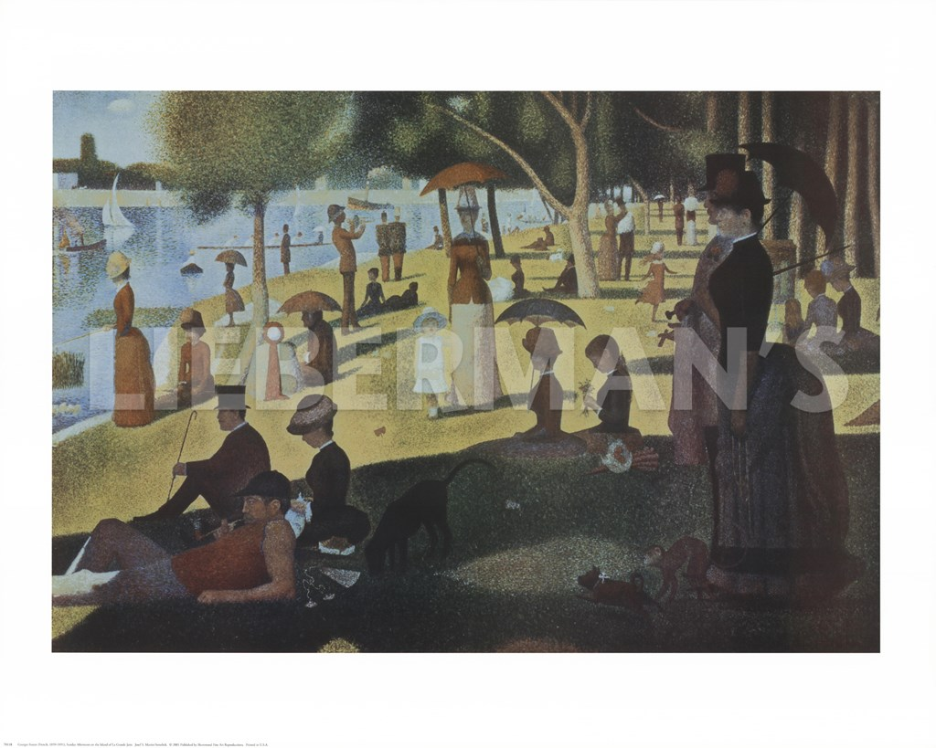 seurat sunday afternoon This item: framed art print, 'sunday afternoon on the island of la grande jatte, 1884-1886' by georges seurat: outer size 37 x 25 set up a giveaway pages with related.