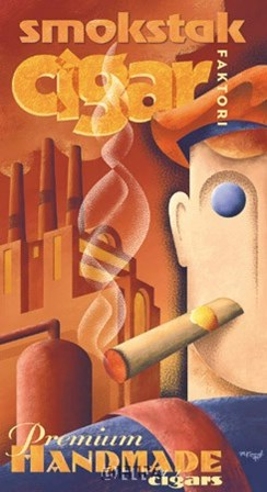 Smokstak Cigar Faktori by Michael Kungl art print