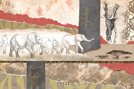Serengeti Elephants by Joseph Poirier art print