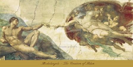 The Creation of Adam by Michelangelo Buonarroti art print