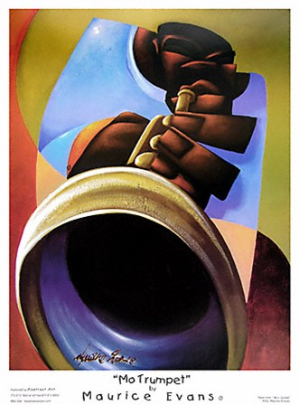 Mo' Trumpet by Maurice Evans art print