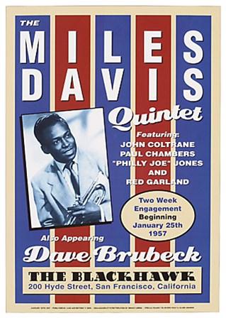 Miles Davis, 1957 art print