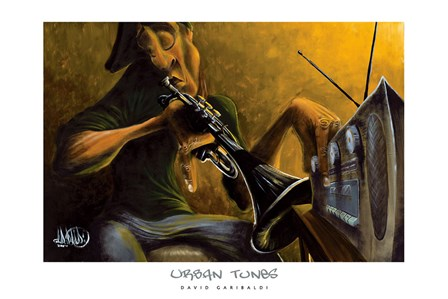 Urban Tunes by David Garibaldi art print