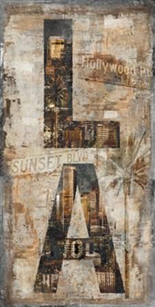LA Vertical by Luke Wilson art print