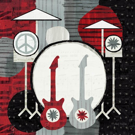 Rock 'n Roll Drums by Michael Mullan art print