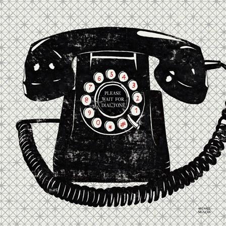 Vintage Analog Phone by Michael Mullan art print