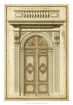 Vintage Door I by Jean F. De Neufforge art print