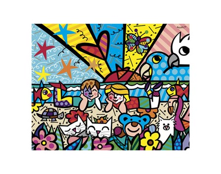 In the Park by Romero Britto art print