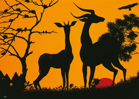 Waiting for Sunset by Timothé Kodjo Honkou art print