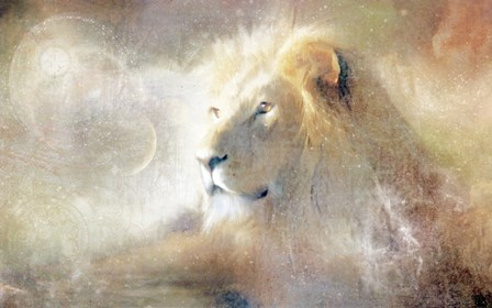 Lion Dust of Dreams by Katrina Baden art print