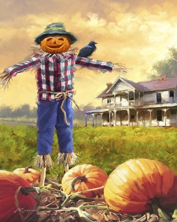 Halloween Scarecrow by The Macneil Studio art print