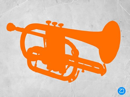 Orange Tuba by Naxart art print