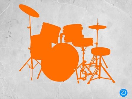 Orange Drum Set by Naxart art print