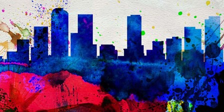Denver City Skyline by Naxart art print