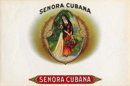 Senora Cubana by Art of the Cigar art print