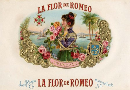 La Flor De Romeo by Art of the Cigar art print