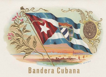 Bandera Cubana by Art of the Cigar art print