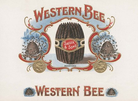 Western Bee by Art of the Cigar art print