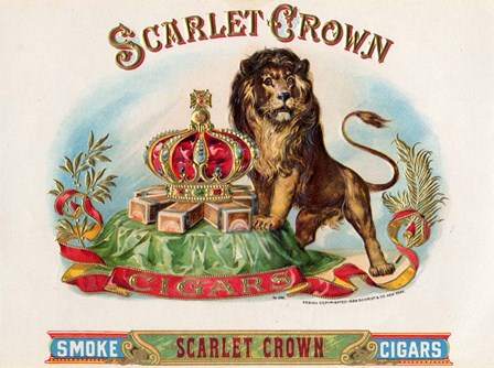 Scarlet Crown by Art of the Cigar art print