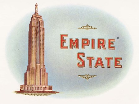 Empire State by Art of the Cigar art print