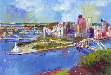 Pittsburgh by Richard Wallich art print