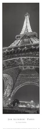 The Eiffel Tower by Jim Alinder art print