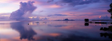 Hut in the Sea, Bora Bora, French Polynesia by Panoramic Images art print