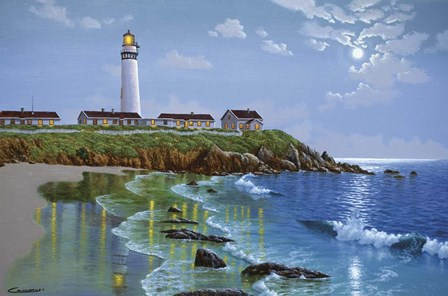Pigeon Point, CA by Eduardo Camoes art print