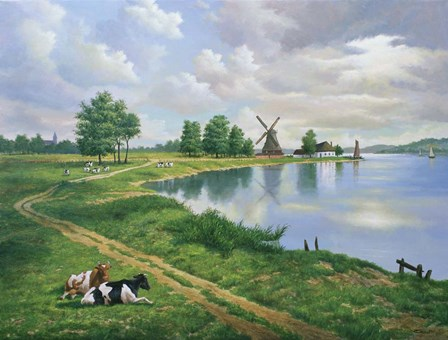 A Dutch Landscape by Eduardo Camoes art print