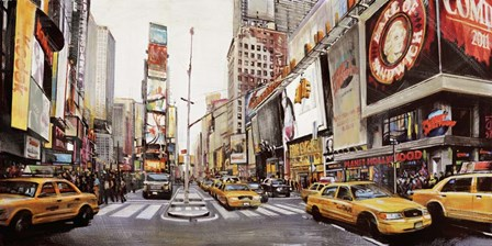 Times Square Perspective by John B. Mannarini art print