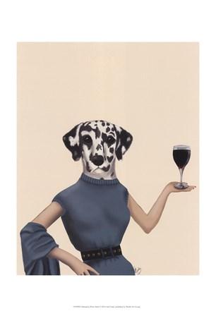 Dalmatian Wine Snob by Fab Funky art print