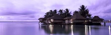 Resort at Dusk, Tahiti, French Polynesia by Panoramic Images art print