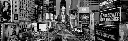 High angle view of traffic on a road, Times Square, Manhattan, NY by Panoramic Images art print