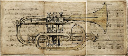 Trumpet 2 by Symposium Design art print