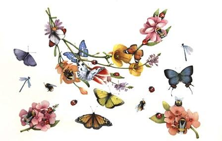 Butterflies by Art Brands art print