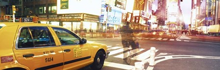 Blurred Traffic in Times Square, New York City by Panoramic Images art print