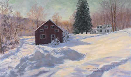 From My Studio In Winter by Christopher Pierce art print