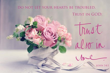 Do Not Let Your Hearts Be Troubled by Sarah Gardner art print