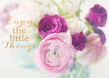 Enjoy the little things by Sarah Gardner art print