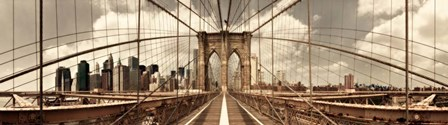 Brooklyn Bridge (sepia) by Shelley Lake art print