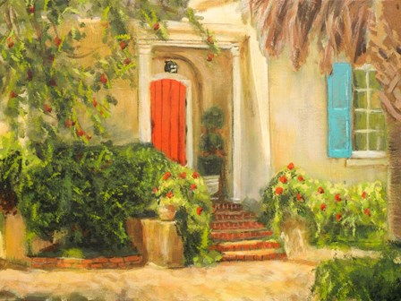 Front Garden Tuscan Dreams I by Walt Johnson art print