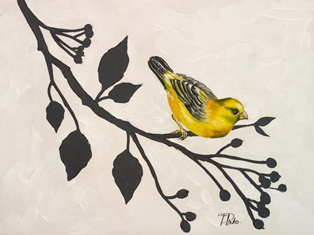 Yellow Bird On the Branch I by Patricia Pinto art print