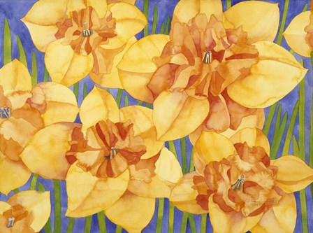 Yellow Daffodils by Mary Russel art print
