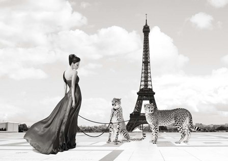 Trocadero View (detail) by Julian Lauren art print