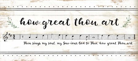 How Great Thou Art by Jennifer Pugh art print