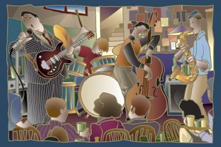 Jazzband 2 by Bigelow Illustrations art print